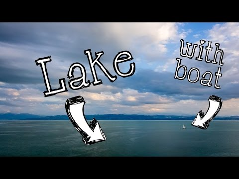 Lake with boat - Lake Constance (Bodensee) Timelapse