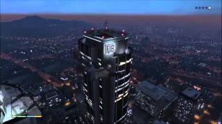 GTA 5 Funny Moment - Moon Gravity Free Fall with Spongebob Time Card Narrator