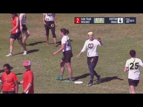 Video Thumbnail: 2018 National Championships, Mixed Quarterfinal: San Francisco Mischief vs. Boston Snake Country