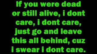 I don't care by Apocalyptica with lyrics