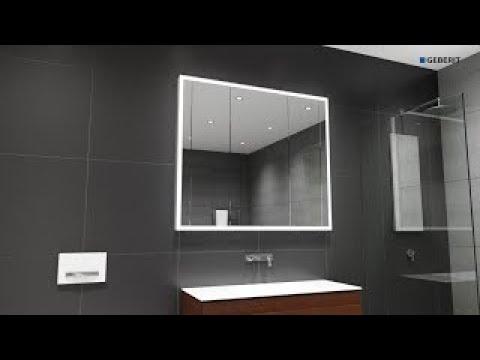 Geberit One Mirror Cabinet – installation