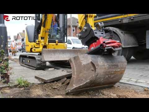 How the Rototilt tiltrotator system makes ground work easy
