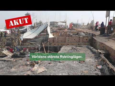 Akutinsats efter stor brand i flyktinglägret Cox's Bazar