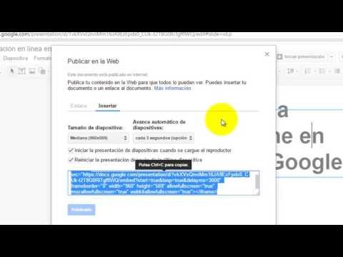 Cómo crear una presentación en línea en Presentaciones de Google