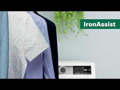 Bosch torktumlare med IronAssist – ångprogram som minskar skrynklig tvätt.