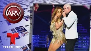 Jennifer López sorprende a Pitbull en un concierto | Al Rojo Vivo | Telemundo