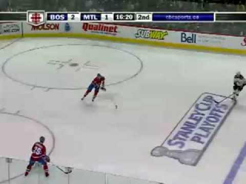 Bruins @ Canadiens Game 3 4-20-09