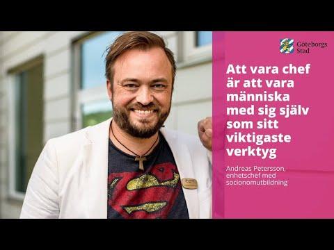 Andreas Petersson, enhetschef med socionomutbildning berättar: Att vara chef är att vara människa me