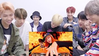 BTS reacting to BLACKPINK AS IF IT'S YOUR LAST