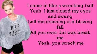 Miley Cyrus - Wrecking Ball Lyrics Video