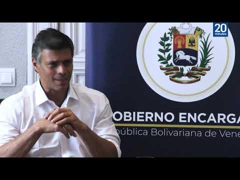 Leopoldo López: «Hay que trabajar con una agenda que lleve a Venezuela a unas elecciones»