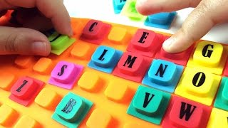 Learn ABC THE ALPHABET with cute squishy alphabet squares. Let's play kids.