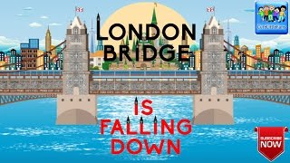 London Bridge Is Falling Down Nursery Rhyme with Lyrics | Kids Songs | CuteLittleFans