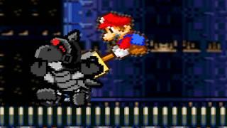 Mario, Sonic, Luigi, Tails, Yoshi, and Knuckles vs Basilisx and Mecha Sonic sprite animation