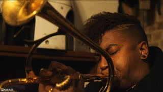 Christian aTunde Adjuah Improv Trumpet Jam - Live at Grand Street Bakery (Episode 10 - Part 2)