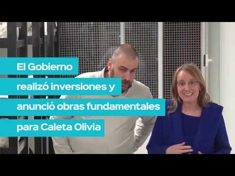 El gobierno de #SantaCruz realiza inversiones y concreta obras en Caleta Olivia.