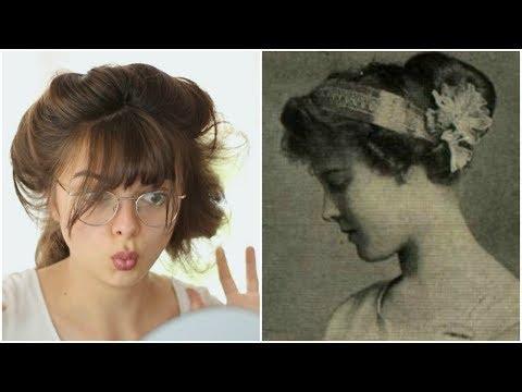 Following A 1911 Hair Tutorial   Edwardian Psyche Knot