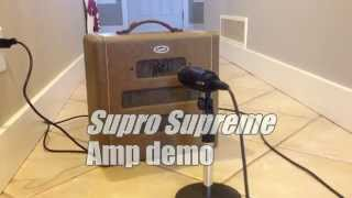 1948 Supro / Valco Supreme guitar amp demo - tweedy goodness 2