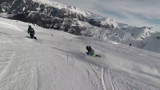 Tracking Chase at Carving Silvretta Montafon Austria