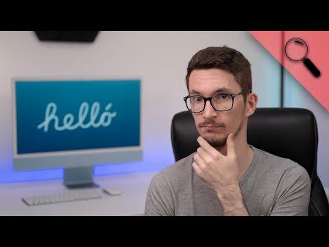 Megjött az ÚJ dizájn! Durván vékony 😲 | M1 iMac 24″ teszt