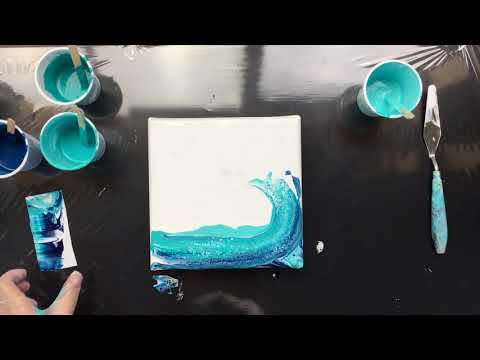 ( 662 ) Acrylic pouring the wave