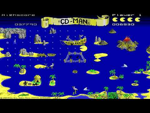 CD-Man (Creative Dimensions) (MS-DOS) [1989]