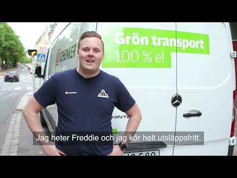 Freddie kör elbil i Göteborg | DB Schenker i Sverige