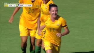 Australia vs. Brazil: Lisa De Vanna Second Goal - Aug. 3, 2017