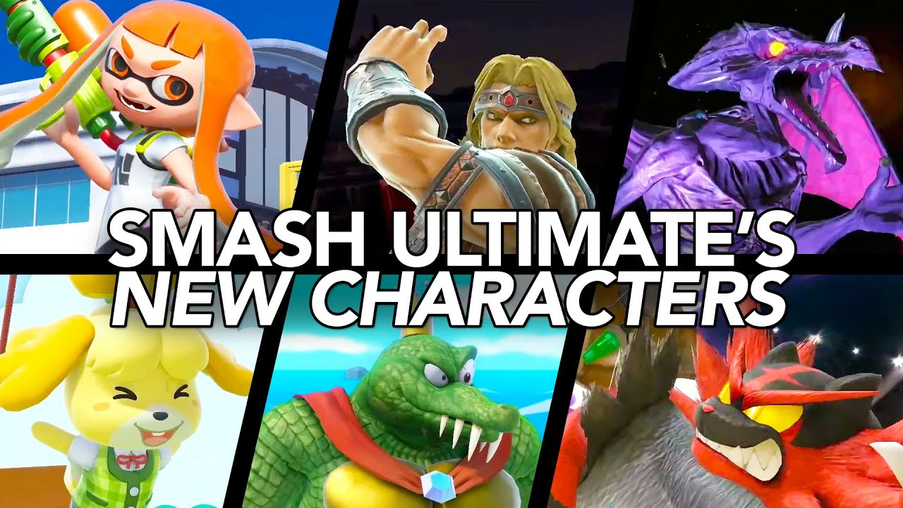 A Look At Smash Bros. Ultimate's New Characters