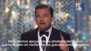 Discurso de Leonardo DiCaprio en los Oscars 2016 - CAMBIO CLIMATICO