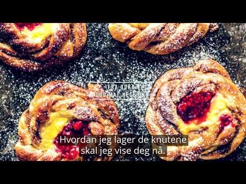 Lise Finckenhagen: Kanelknuter med vaniljekrem og bringebærsyltetøy