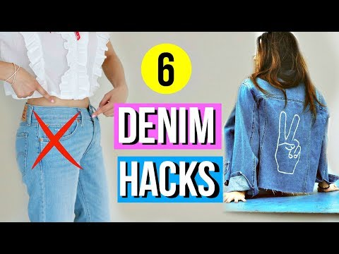 Video: 6 DIY Denim Hacks EVERY Girl Must Know!