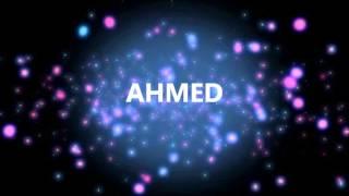 HAPPY BIRTHDAY AHMED!