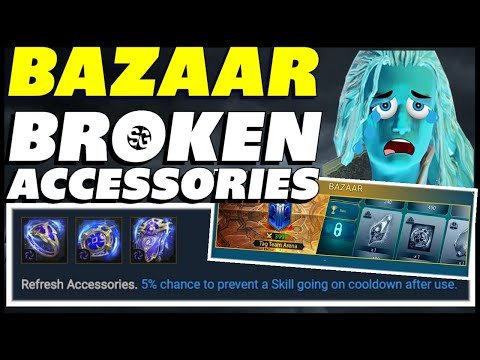 Bazaar ACCESSORIES are OP Broken! Review & champions that use them | RAID SHADOW LEGENDS BAZAAR
