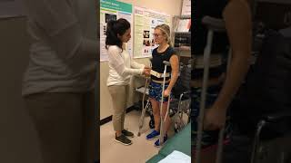 crutches to WC