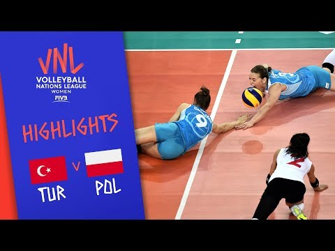 TURKEY vs. POLAND - Highlights Women | Week 4 | Volleyball Nations League 2019