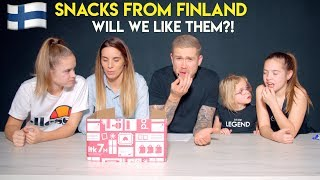 A FAN SENT US A BOX OF SNACKS FROM FINLAND!