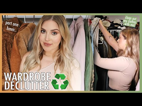 MASSIVE CLOSET DECLUTTER! ? organize clothing with me! ??