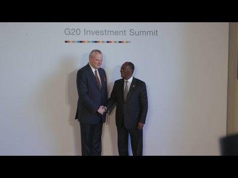 Cérémonie d'ouverture de la Conférence économique du G20 Afrique