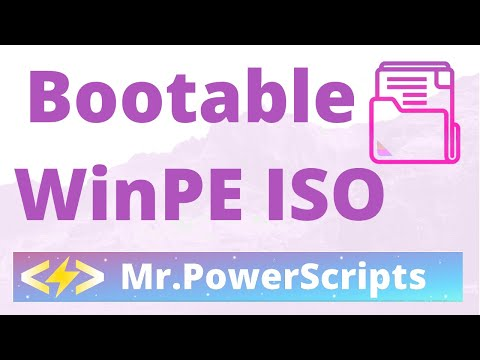 Using OSCDIMG.exe to create a bootable ISO and load a WinPE WIM image