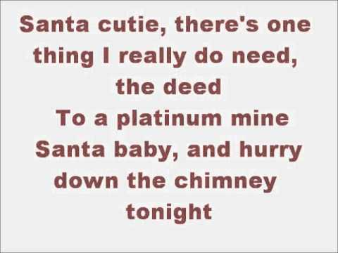 Glee Santa Baby With Lyrics Chords Chordify