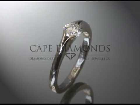 Soul ring,joel graham,ideal cut diamond,platinum,curve on top,engagement ring