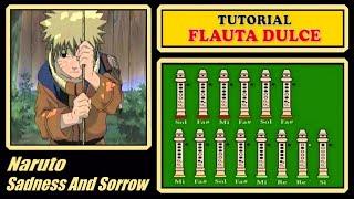 """Naruto - Sadness and Sorrow en Flauta Dulce """"Con Notas Explicadas"""""""