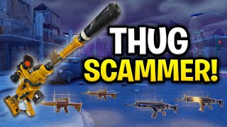 Insanely Rich Thug Scams Himself! (Scammer Get Scammed) Fortnite Save The World