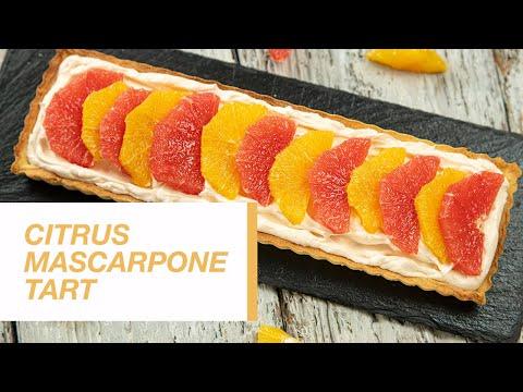 Citrus Mascarpone Tart   Food Channel L Recipes
