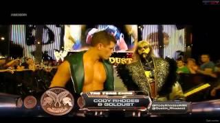 Goldusty and Cody Rhodes   Entrance WWE 2013