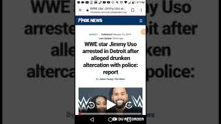 WWE superstar Jimmy Uso arrested In Detroit For Drunk Altercation!!!