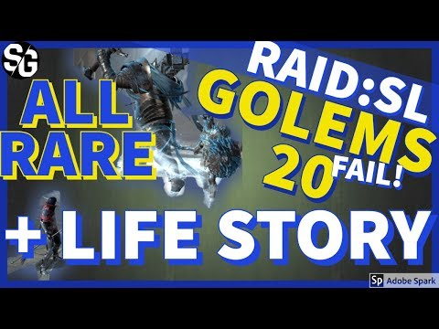 [RAID SHADOW LEGENDS] GOLEMS 20 RARE FAIL & LIFE STORY