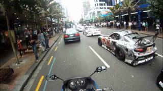 Mad Mike 26b RX7 driving on the street