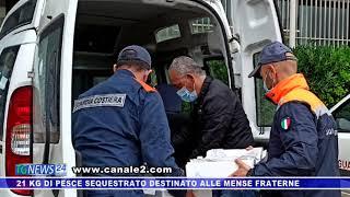 21 KG DI PESCE SEQUESTRATO DESTINATO ALLE MENSE FRATERNE